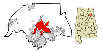 Gadsden City in Etowah County Map
