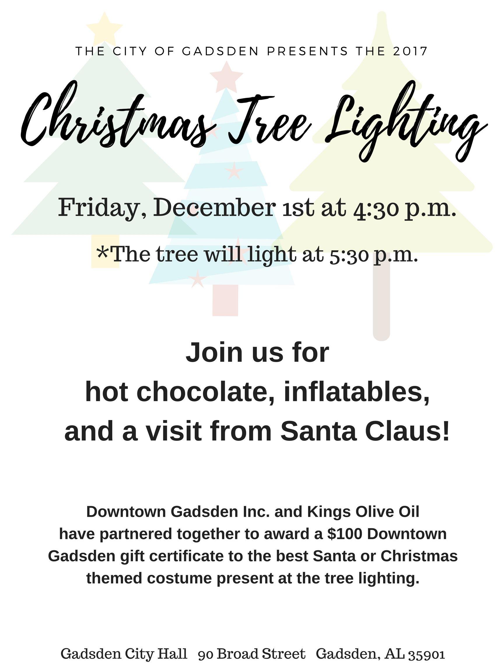 city wide christmas tree lighting