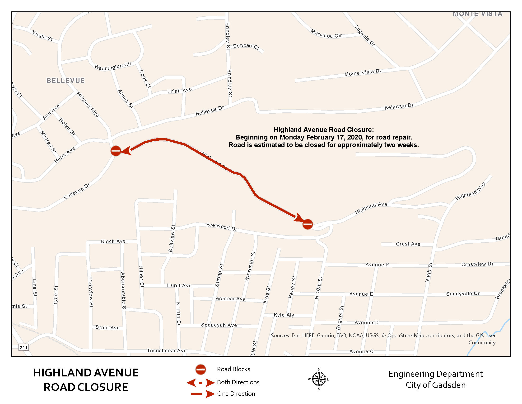 Highland Avenue Road Closure