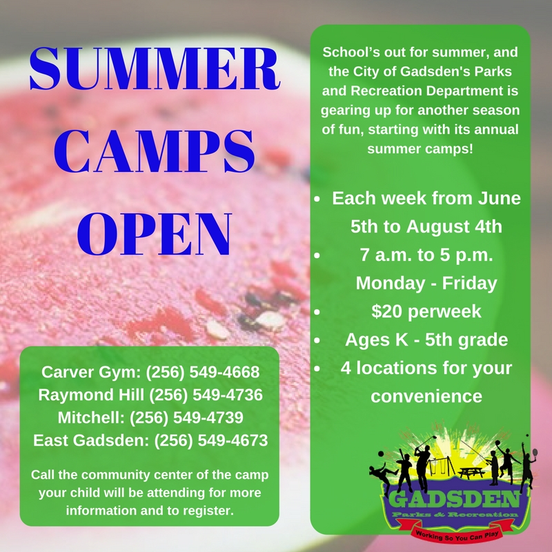 PARD Summer Camps Flyer